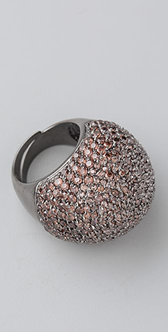 Kenneth Jay Lane Domed Pave Ring