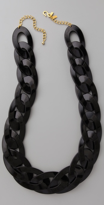 Kenneth Jay Lane Black Link Necklace