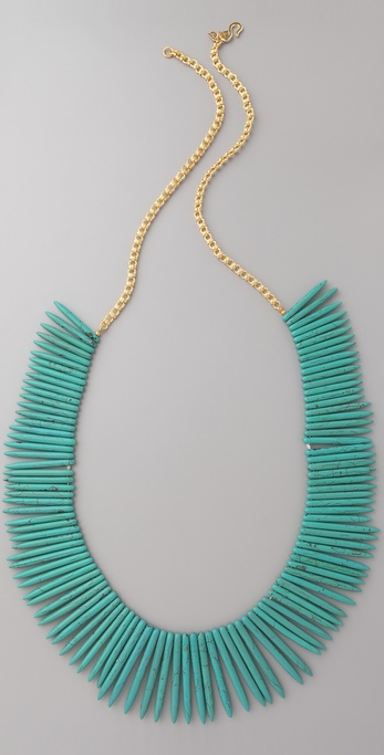 Kenneth Jay Lane Turquoise Stick Necklace