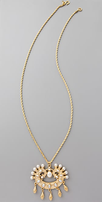 Kenneth Jay Lane Pearl Pendant Necklace