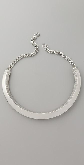 Kenneth Jay Lane Textured Chain Bib Necklace