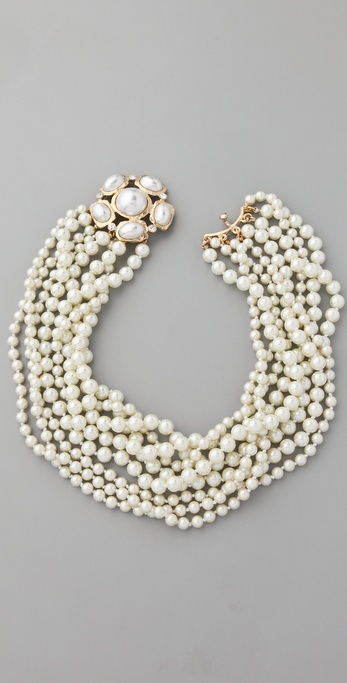Kenneth Jay Lane Pearl Clasp Necklace