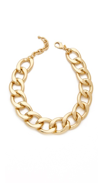Kenneth Jay Lane Polished Lobster Claw Necklace