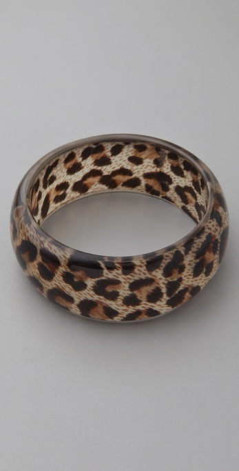 Kenneth Jay Lane Leopard Print Bangle