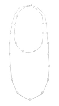 Kenneth Jay Lane Large CZ Stations Necklace