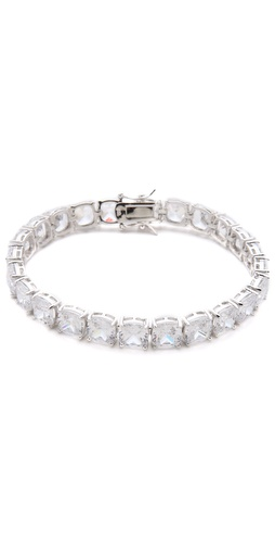 Shop Kenneth Jay Lane Cushion Cut Tennis Bracelet - Kenneth Jay Lane online - Accessories,Womens,Jewelry,Bracelet, at Lilychic Australian Clothes Online Store