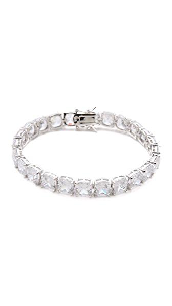 Kenneth Jay Lane Cushion Cut Tennis Bracelet