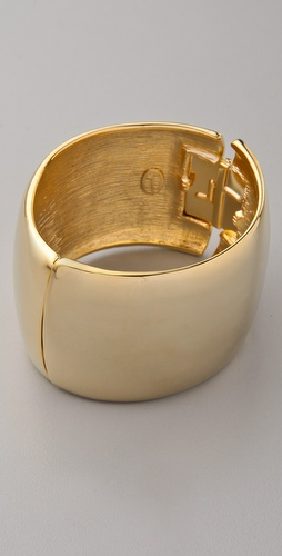 Kenneth Jay Lane Gold Hinged Cuff
