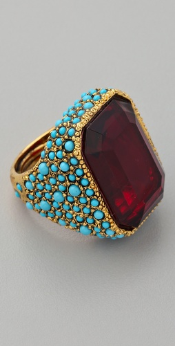 Kenneth Jay Lane Antiqued Cocktail Ring