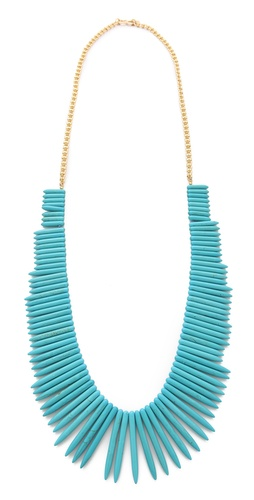 Kenneth Jay Lane Turquoise Stick Necklace