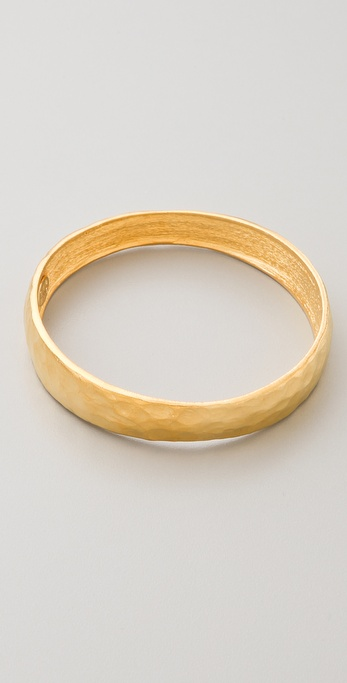 Kenneth Jay Lane Hammered Bangle