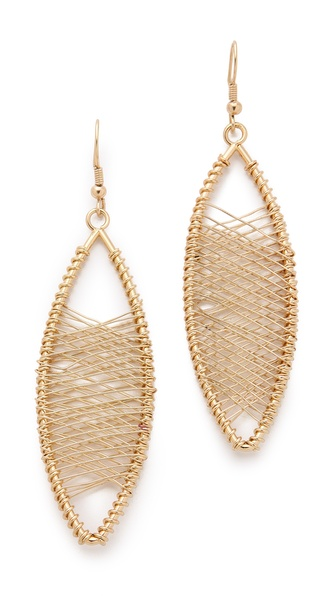 Kenneth Jay Lane Oval Wire Wrapped Earrings
