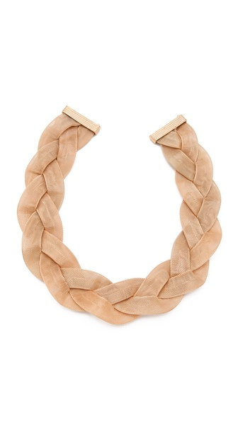 Kenneth Jay Lane Braided Bib Necklace