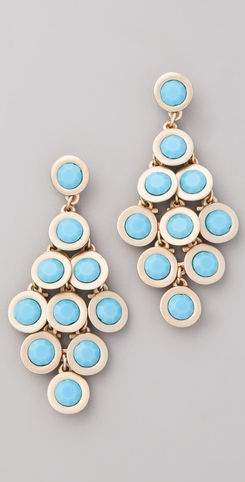 Kenneth Jay Lane Cabochon Chandelier Earrings
