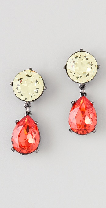 Kenneth Jay Lane Gemstone Teardrop Earrings