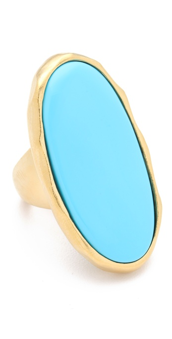 Kenneth Jay Lane Turquoise Oval Ring