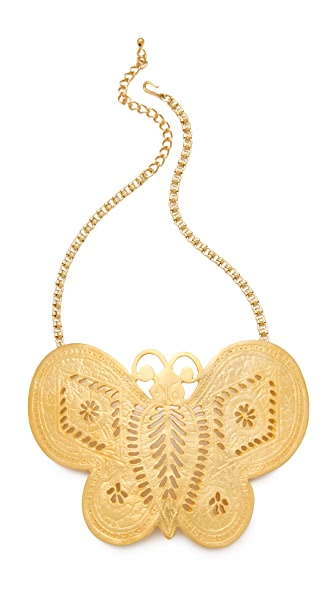 kenneth jay lane butterfly necklace shopbop