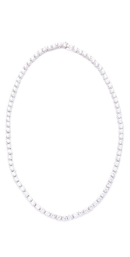 Kenneth Jay Lane 4mm Tennis Necklace