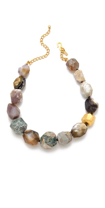 Kenneth Jay Lane Agate Station Necklace