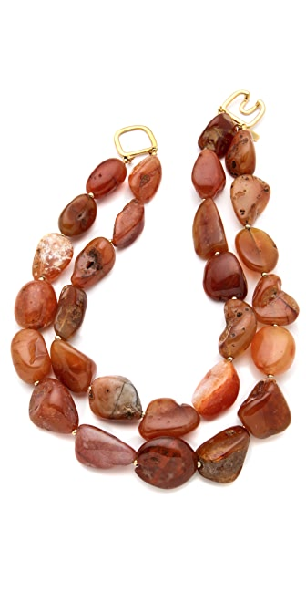 Kenneth Jay Lane Layered Agate Necklace