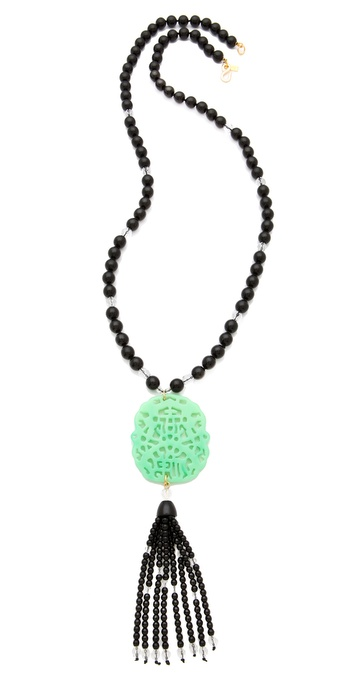Kenneth Jay Lane Beaded Tassel Necklace
