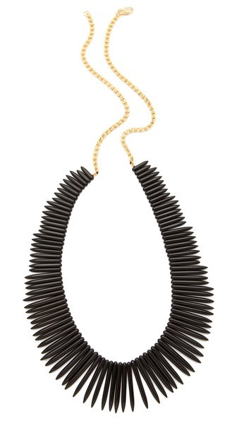 Kenneth Jay Lane Black Stick Necklace