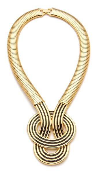 Kenneth Jay Lane Enamel Knot Necklace