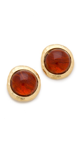 Kenneth Jay Lane Flawed Cabochon Earrings
