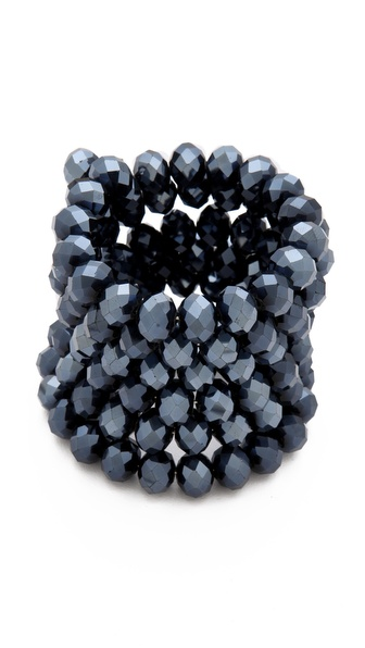 Kenneth Jay Lane Faceted Coil Bracelet