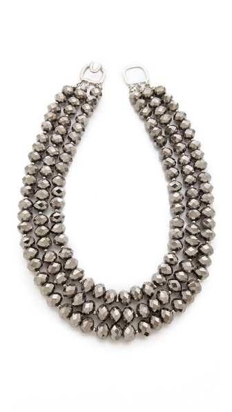 Kenneth Jay Lane Three Row Necklace