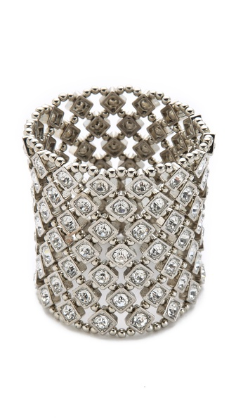 Kenneth Jay Lane Crystal Stretch Bracelet