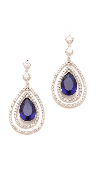 Kenneth Jay Lane Pave Pear Drop Earrings