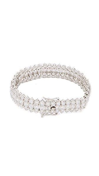 Kenneth Jay Lane Three Row Tennis Bracelet