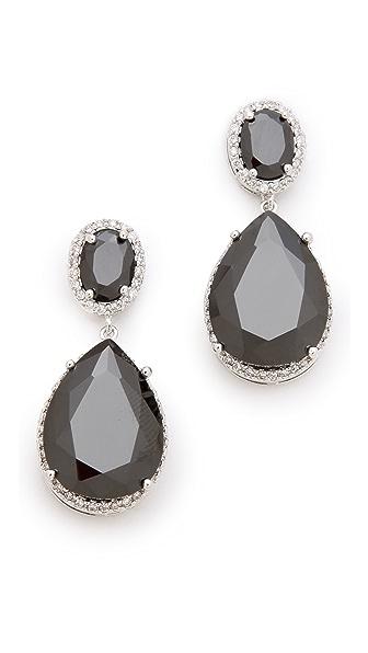 Kenneth Jay Lane Oval Double Drop Earrings