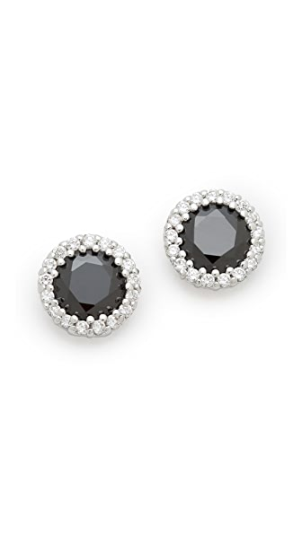 Kenneth Jay Lane Faceted Pave Earrings