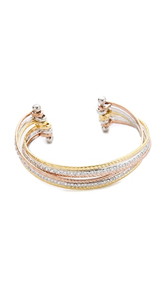 Kenneth Jay Lane Crisscross Cuff