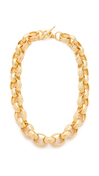 Kenneth Jay Lane Textured Link Toggle Necklace