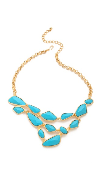 Kenneth Jay Lane Faceted Stones Bib Necklace