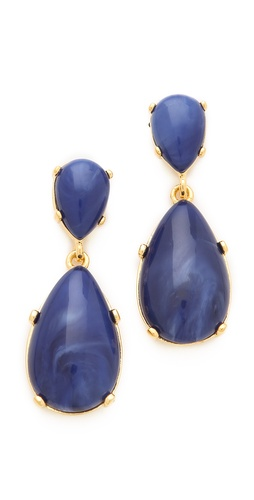 Kenneth Jay Lane Cabochon Drop Earrings at Shopbop.com