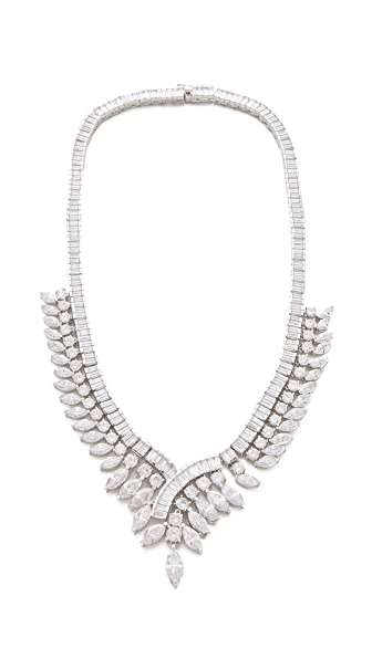 Kenneth Jay Lane Gatsby Marquis Baguette Necklace