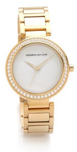 Kenneth Jay Lane Crystal Face Watch