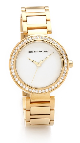 Kenneth Jay Lane Crystal Face Watch