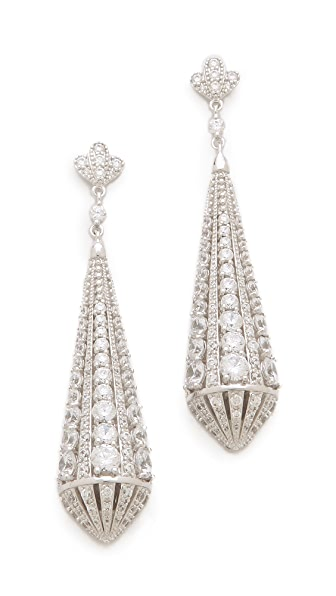Kenneth Jay Lane Deco Teardrop Post Earrings