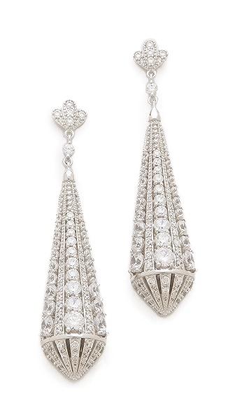 Kenneth Jay Lane Deco Teardrop Post Earrings