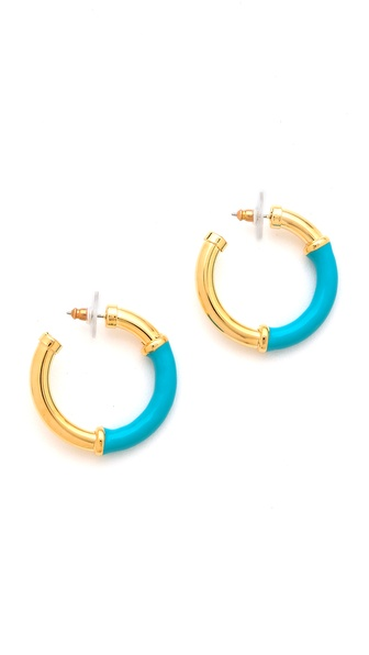 Kenneth Jay Lane Small Hoop Earrings