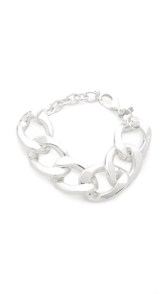 Kenneth Jay Lane Large Flat Link Bracelet