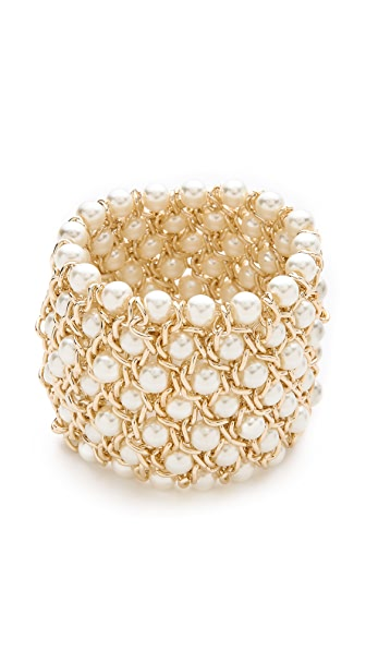 Kenneth Jay Lane Twist Stretch Bracelet