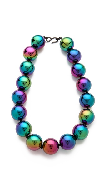 Kenneth Jay Lane Rainbow Beads Necklace