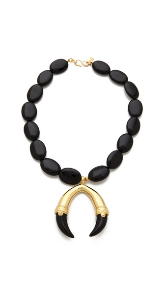 Kenneth Jay Lane Claw Pendant Necklace