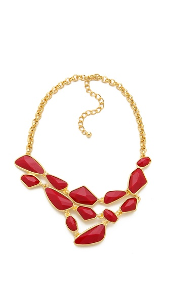 Kenneth Jay Lane Tiered Bib Necklace